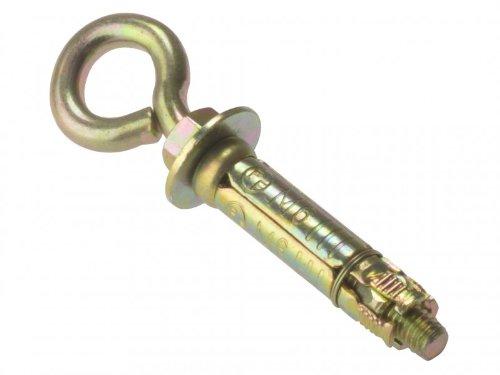 Forgefix EYE6M M6 Masonry Anchors Eye Bolt - Zinc Yellow Passivated