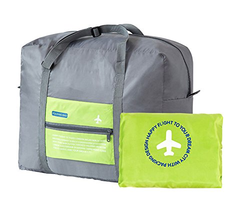 Travel Duffels Bag DH Waterproof Foldable Green 32L Large Capacity Gym Storage Portable Luggage Bag (Garment Bag Bauer compare prices)