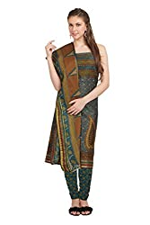 Aryahi Women's Cotton Dress Material (70445_Blue)