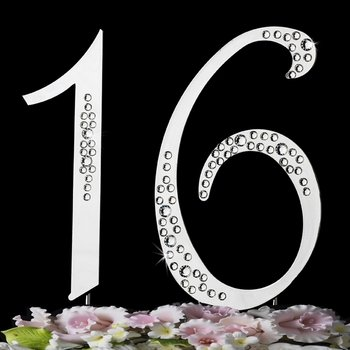 Sweet Sixteen 16th Birthday Cake Topper