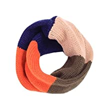 Juanshi Child Cute Infinity One Circle Knit Wool Blend Loop Scarf Color Orange