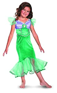 Disguise Disney The Little Mermaid Ariel Sparkle Classic Girls Costume, 4-6X