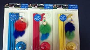 Cat Teaser Wand 18 Inch Assorted Colors