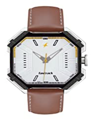 Fastrack Analogue White Dial Men Watch - (3100SL01)