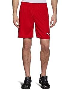 PUMA Herren Hose Team Shorts W/O Inner Slip, Puma Red-White, S, 701275 01
