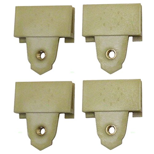 Set of Four Window Regulator Sash Connector Channel Guide Attaching Clips Replacement for Pontiac Oldsmobile 22689012 (Window Regulator Sash Connector compare prices)