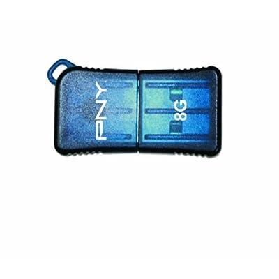 PNY Micro Sleek Attache 32GB USB 2.0 Flash Drive, Red (P-FDU32GSLK/RED-GE)
