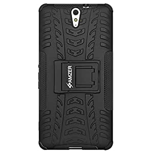 Amzer Defender Hybrid Warrior Armour Impact Resistant Case Cover for Sony Xperia C5 Ultra - B...