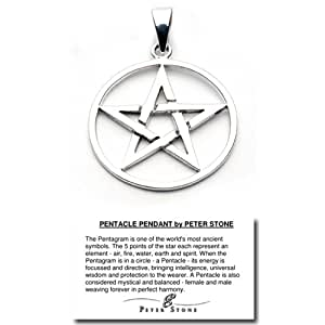 Sterling Silver Pentacle Pendant by Peter Stone(TM)