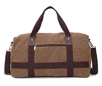 Newstep Portable Men Casual Luggage Canvas Weekend Travel Duffel Bag