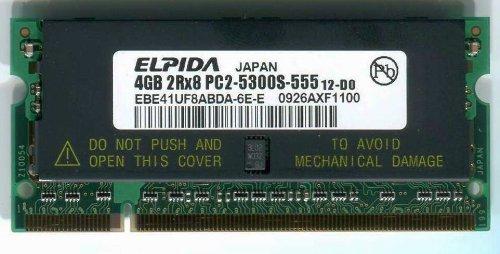 ELPIDA純正 ノートパソコン用メモリ SODIMM DDR2-667 (PC2-5300) 4GB