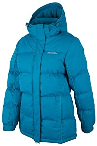 Mountain Warehouse Womens Snow Padded Warm Hooded Puffa Water Resistant Winter Puffer Jacket Coat Teal 8