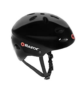 Razor V-17 Youth Multi-Sport Helmet (Black Gloss)