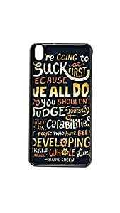 Judge Yourself Designer Mobile Case/Cover For HTC Desire 816 2D black