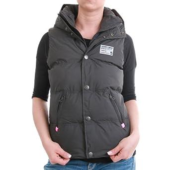 superdry weste women hooded polar camping vest grey pink gr e xs bekleidung. Black Bedroom Furniture Sets. Home Design Ideas