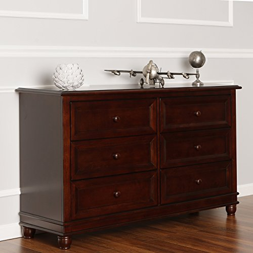Dream On Me Mia Moda Parkland Double Dresser, Espresso