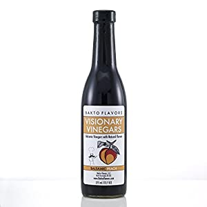 Visionary Vinegars - Kosher Balsamic Vinegar with Natural Peach Flavor - 12.7 FL OZ