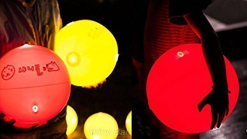 "[Shiny Ball] Glow-in-the-dark Beach Ball LED Light Up 11.8"" Diameter by Shiny Ball"