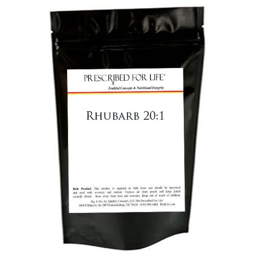 Rhubarb Root Extract Powder 20:1 Concentration - Size: 1Lb