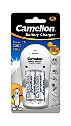 Camelion Always Ready BC-1009 D Battery Charger with 2X2100mAH AA Rechargeable Batteries.