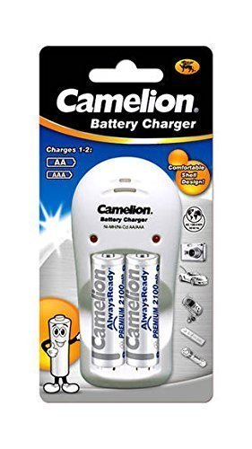 Camelion BC-1009 D Battery Charger (With 2 AA 2100mAH Rechargeable Batteries)