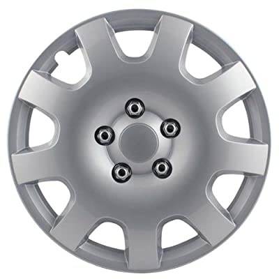"Pilot Automotive WH524-15S-BX Gear Silver 9 Spoke 15"" Wheel Cover, (Set of 4)"