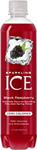 TalkingRain Sparkling ICE Black Raspberry, 17-Ounce Bottles (Pack of 12)