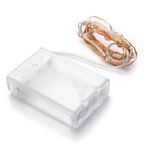 emall supply 40er Led Lichterkette Batterie Lämpchen Warmweiß Batteriebetrieben Tropfen