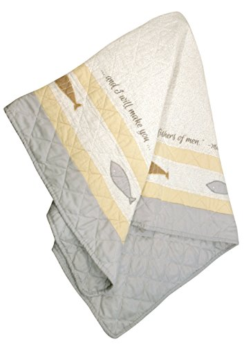 Stephan Baby Pieced and Embroidered Crib Quilt with Scripture, Fishers of Men - 1