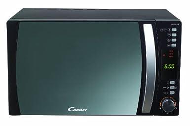 Candy CMC 30D CVB Four micro-ondes Façade miroir Puissance 900 W / Grill 1100 W / Air chaud Noir Capacité 30 l (Import Allemagne)