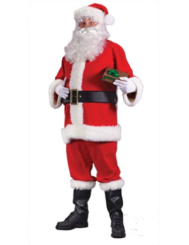 Santa Suit Economy Christmas Costume - Most Adults