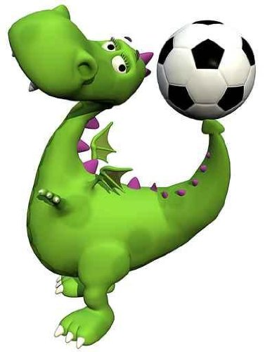 Footballer Dino Baby Dragon - Ball on Tail - 18