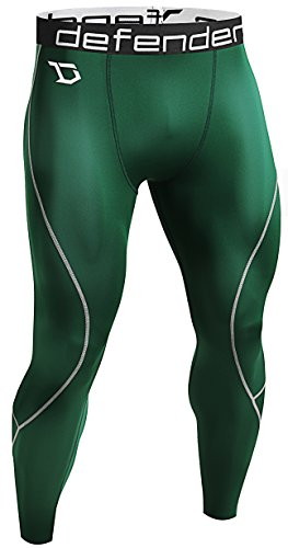 Defender Men's Compression Baselayer Pants Legging Shorts Tights Football GR_XL