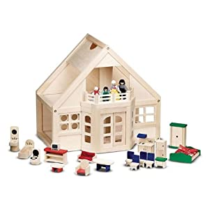 Melissa & Doug Deluxe Wooden Dollhouse