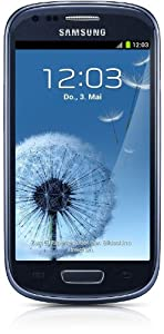 Samsung Galaxy S3 mini I8190 Smartphone (10,2 cm (4 Zoll) Super AMOLED Display, 8GB interne Speicher, 5 Megapixel Kamera, WiFi, NFC, Android 4.1) pepple-blue