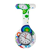 buy High Quality Brooch / Fob Watch For Health Care Workers, Nurses And Doctors In White Silicone Hygienic Protection Cover For Infections Control With Modern Patterns / Designs In Many Colors By Vaga
