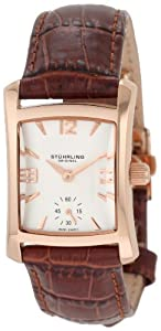 Stuhrling Original Women's 145L.1245E2 Classic Gatsby Swiss Quartz Rose Tone Leather Watch