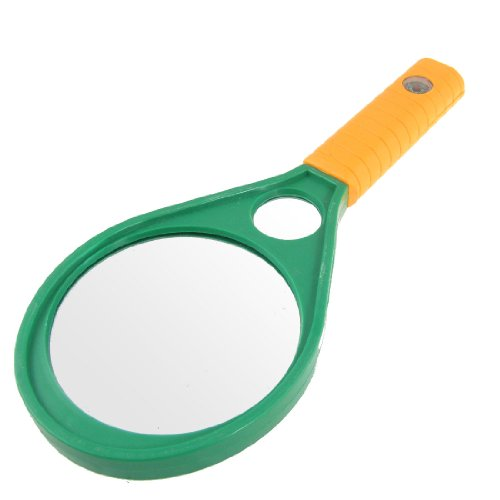 90mm 5X 10X Plastic Handle Double Glasses Magnifying Magnifier for Reading - 1