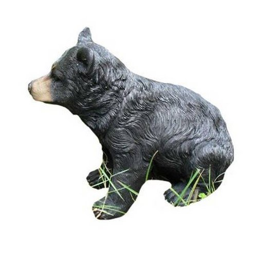 Black Bear Small Animal Garden Ornament Decoration