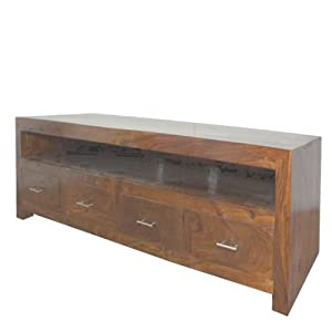 Cuba Sheesham Long Plasma Tv Cabinet Furniture Amazon