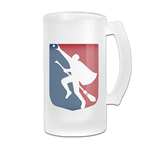 CEDAEI Quidditch LOGO Beer Glass Frosted White Pub COOL 16-Ounce Mug