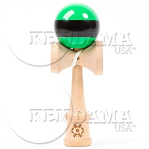 Tribute Kendama - Green W. Black Stripe