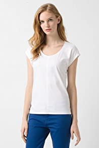 Short Sleeve Lightweight Interlock Scoopneck T-Shirt