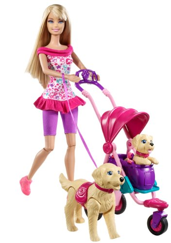 Barbie Estate Strollin Pups