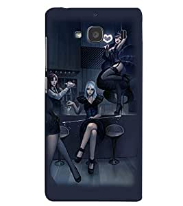 PRINTVISA Party Girls Case Cover for Xiaomi Redmi 2S