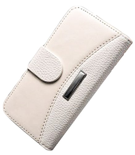 Mylife (Tm) Ivory - Classic Design - Textured Koskin Faux Leather (Card And Id Holder + Magnetic Detachable Closing) Slim Wallet For Iphone 5/5S (5G) 5Th Generation Itouch Smartphone By Apple (External Rugged Synthetic Leather With Magnetic Clip + Interna