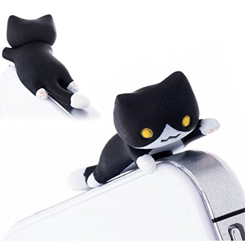 30%OFF ZOEAST Black Creeping Cat Kitten Kitty Dust Plug 3.5mm Smart Phone Headphone Jack Earphone Cap Ear Cap Dust Plug Charm iPhone 4S 5 5S 6 6S Plus Samsung IPad IPod etc (Black Creeping Cat) (Cat Phone Jack compare prices)