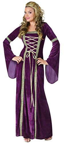 Funworld Womens Renaissance Lady Purple Gown Fancy Halloween Costume