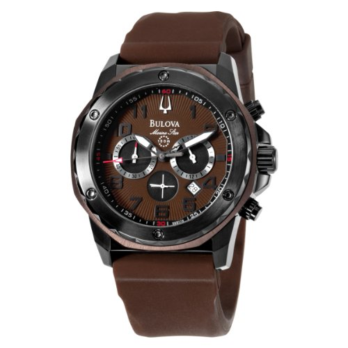 Bulova Men's 98B128 Marine Star Brown Dial Strap Watch