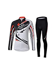 Wawoo® Sport Cycling Jersey - Jersey Long Sleeve BIKE ATV Suit for Autumn and Spring Cycling Women + Pants